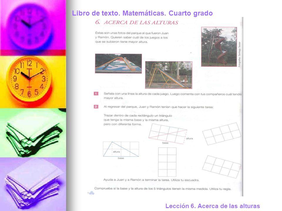 Libro de texto. Matemáticas. Cuarto grado