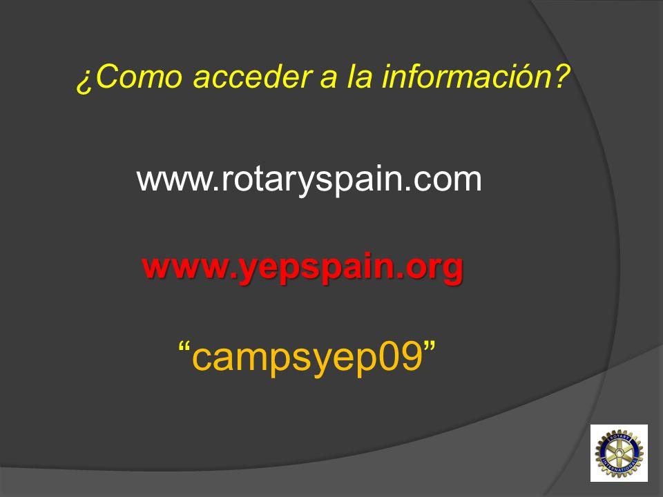 campsyep09 www.rotaryspain.com www.yepspain.org