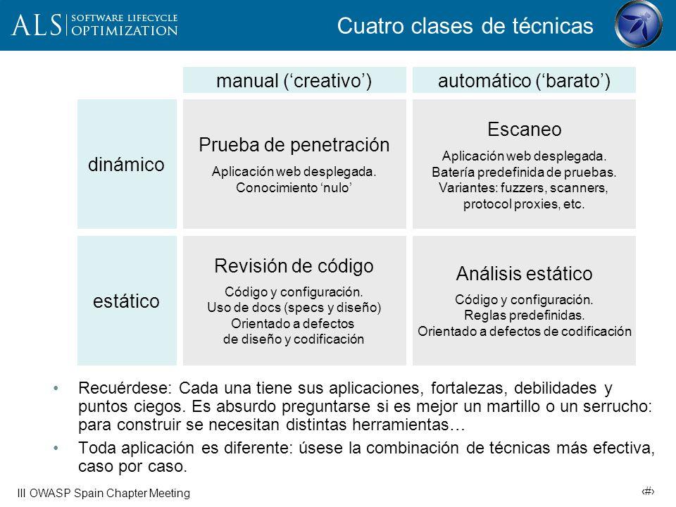 Cuatro clases de técnicas