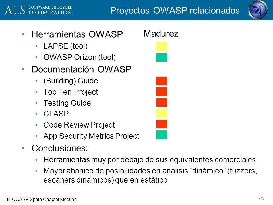 Proyectos OWASP relacionados
