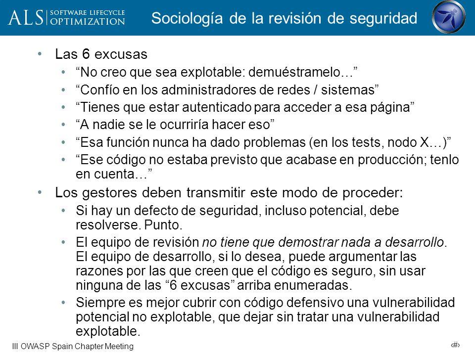 Sociología de la revisión de seguridad