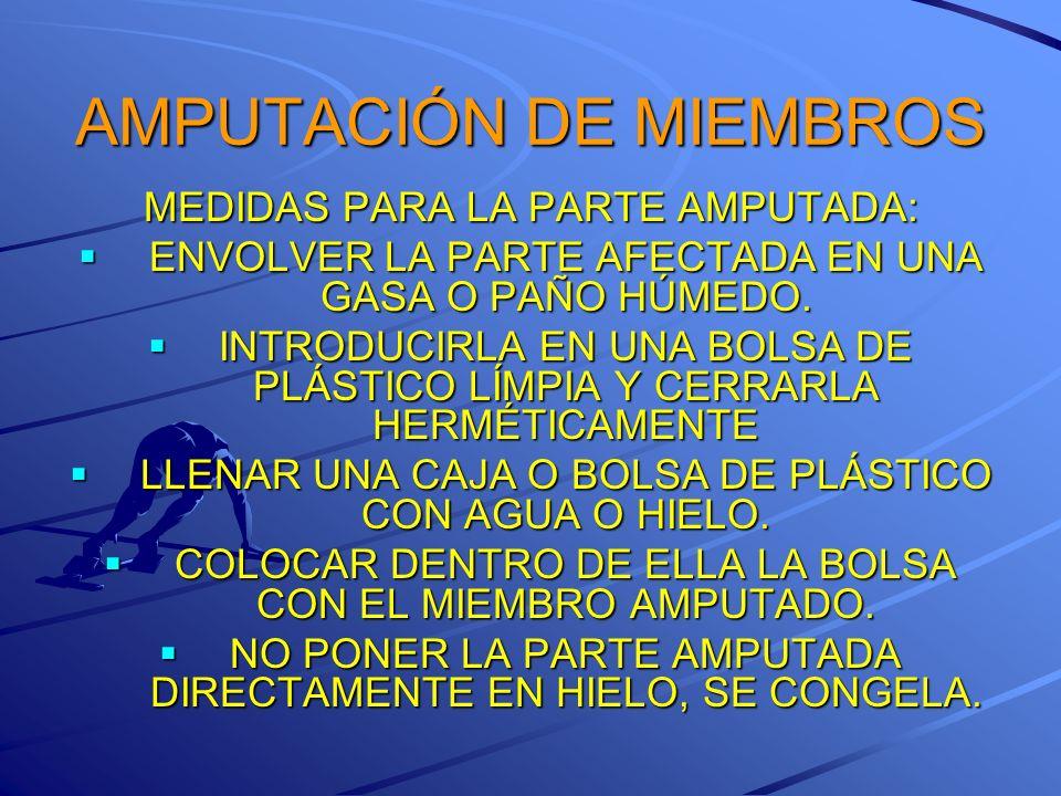 AMPUTACIÓN DE MIEMBROS