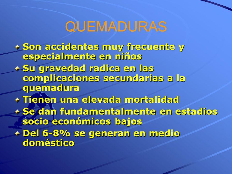 QUEMADURAS Son accidentes muy frecuente y especialmente en niños