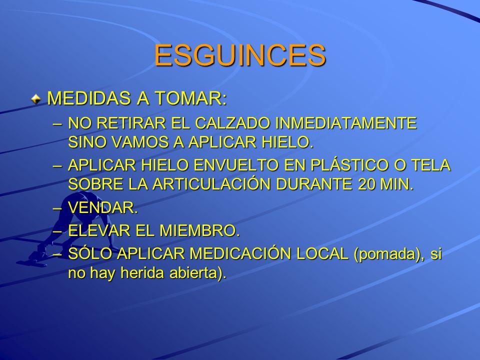 ESGUINCES MEDIDAS A TOMAR: