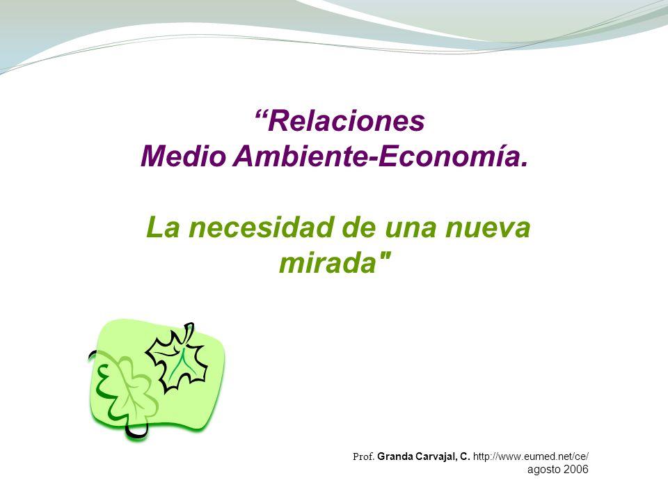 Medio Ambiente-Economía.