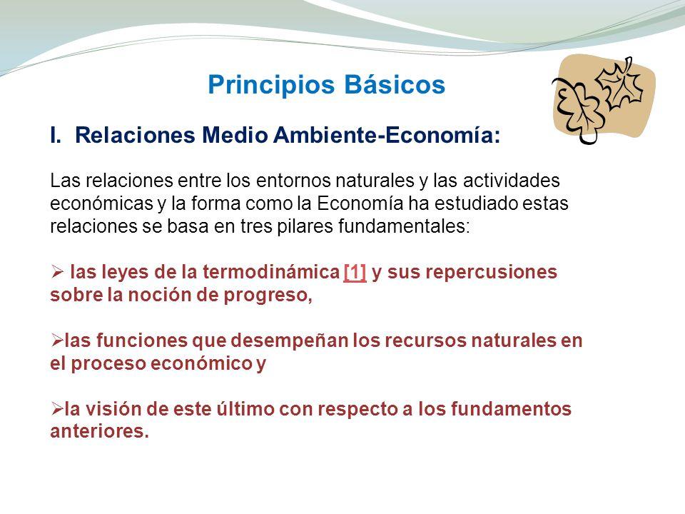 Principios Básicos I. Relaciones Medio Ambiente-Economía: