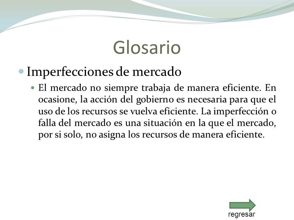 Glosario Imperfecciones de mercado