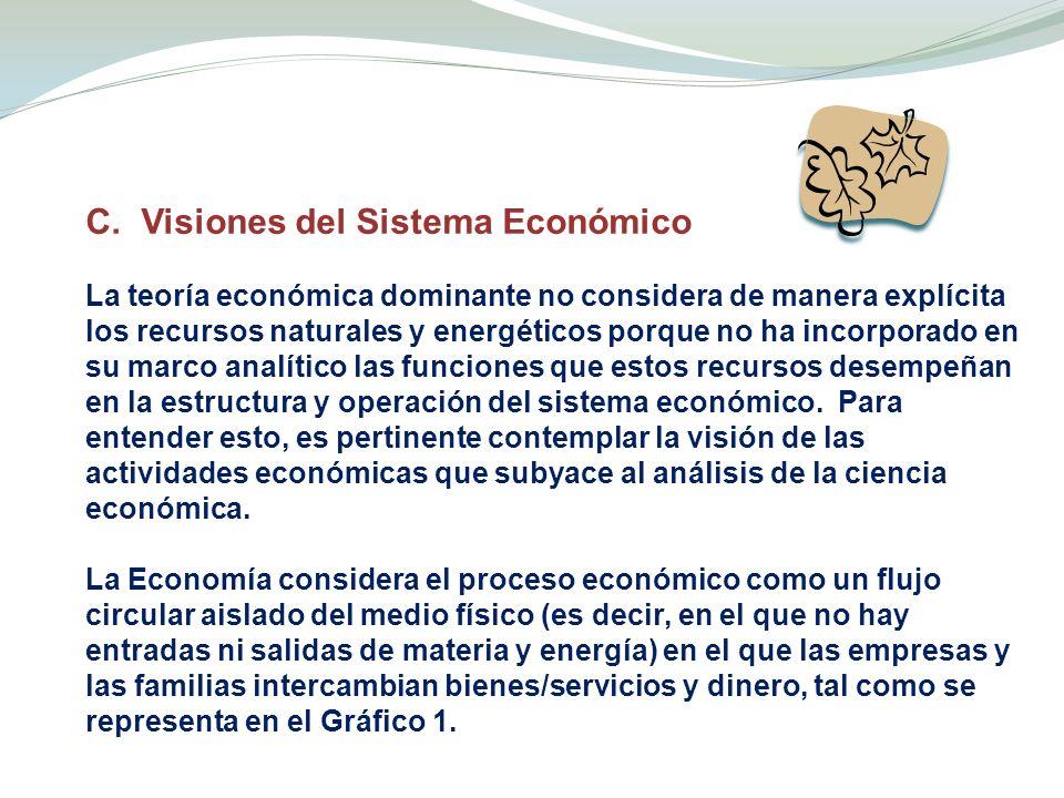 C. Visiones del Sistema Económico
