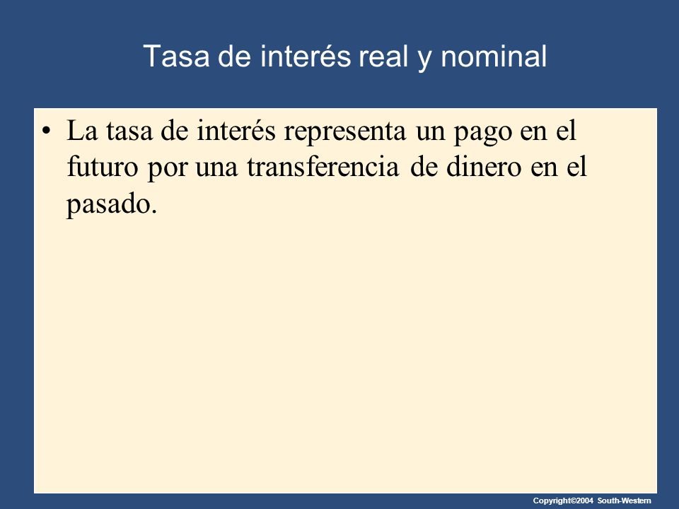 Tasa de interés real y nominal