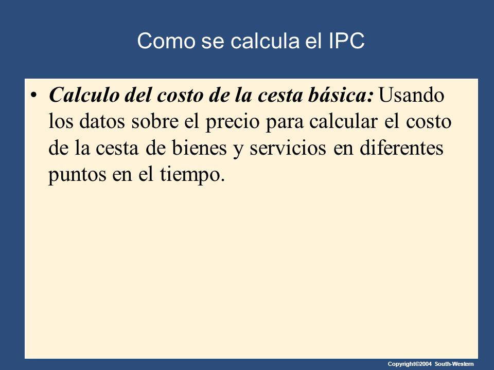 Como se calcula el IPC
