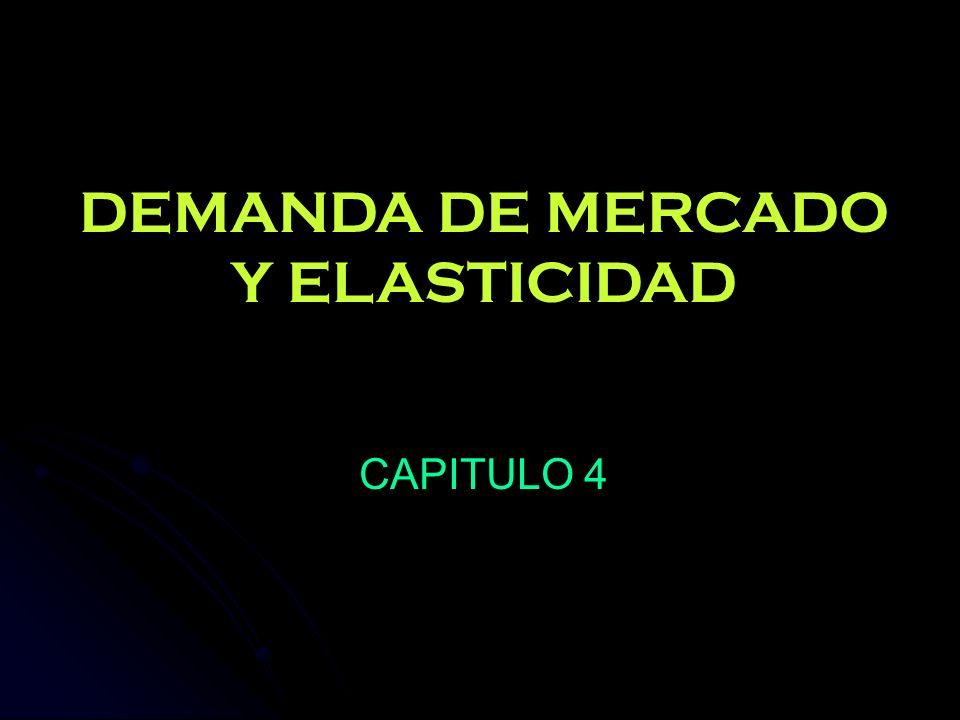 DEMANDA DE MERCADO Y ELASTICIDAD