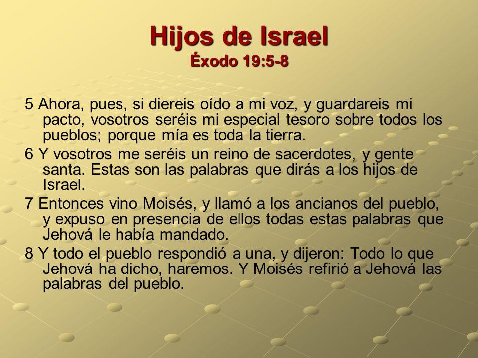 Hijos de Israel Éxodo 19:5-8