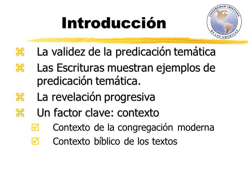 Introducción La validez de la predicación temática