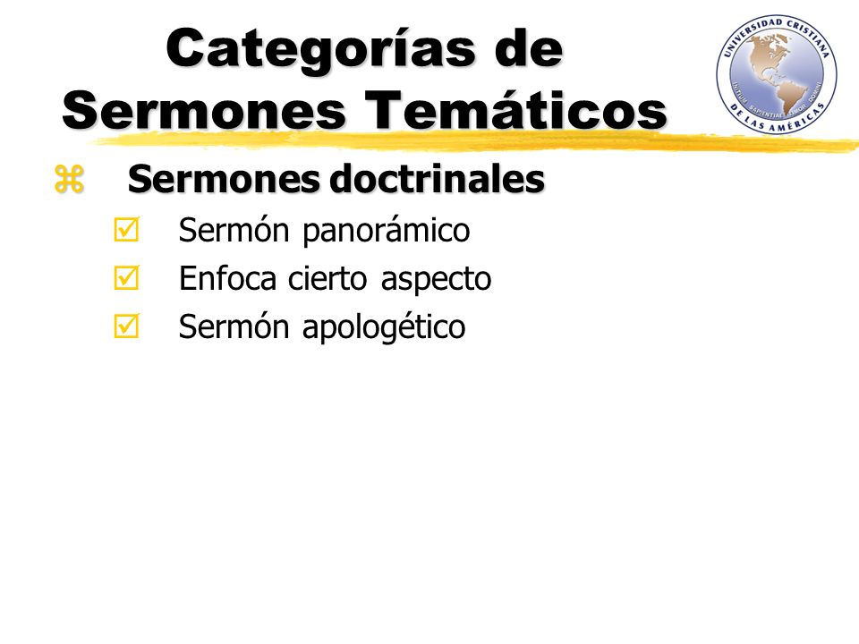 Categorías de Sermones Temáticos