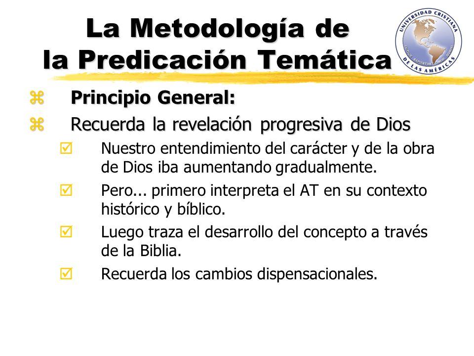 La Metodología de la Predicación Temática