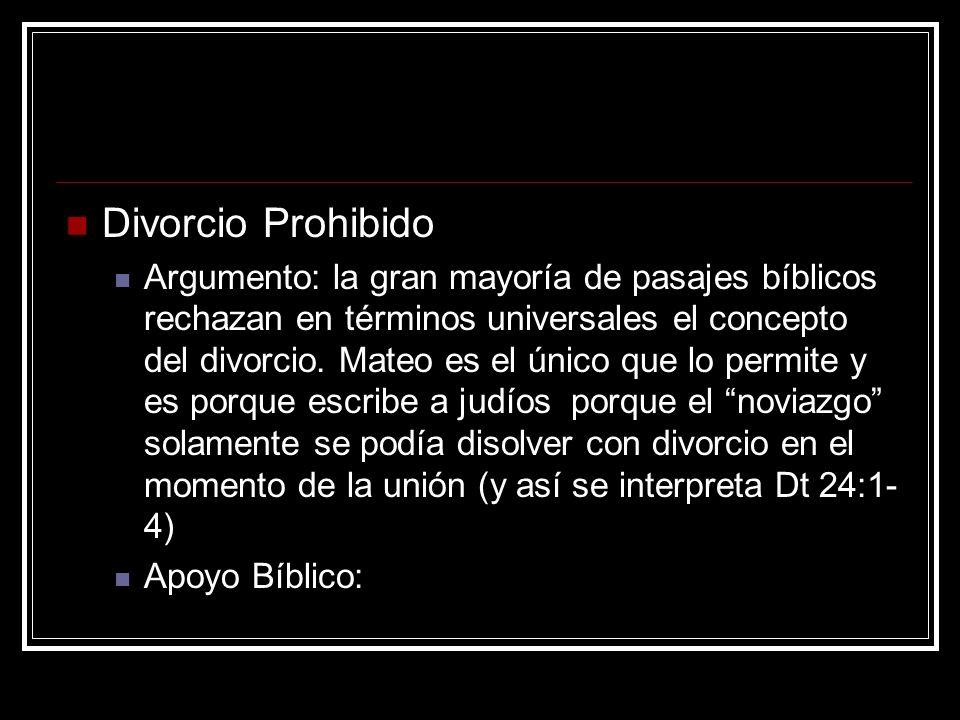 Divorcio Prohibido