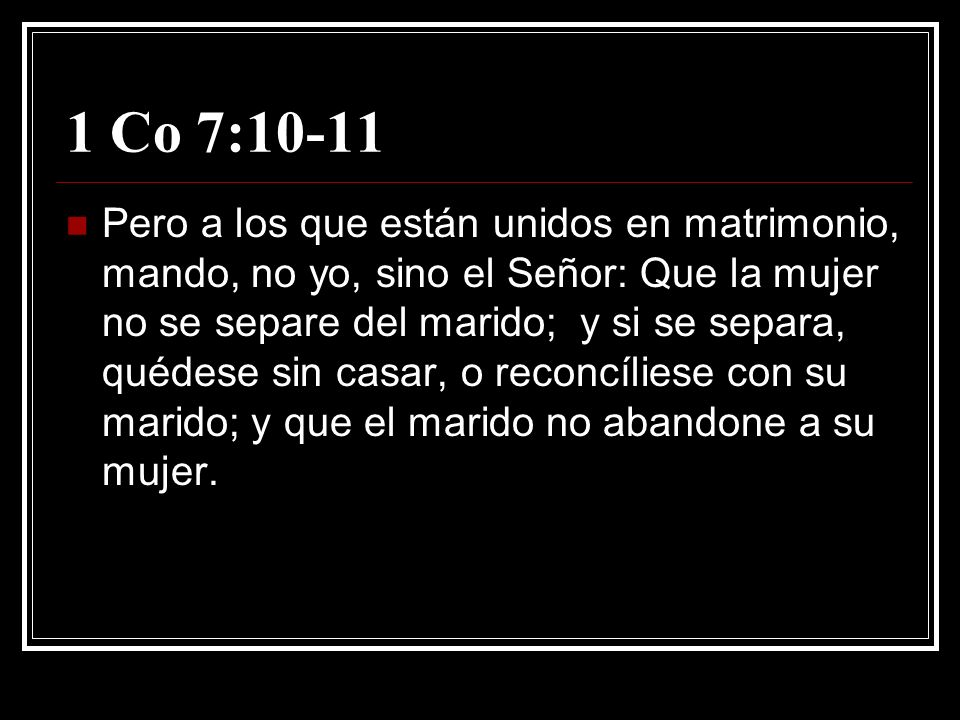 1 Co 7:10-11