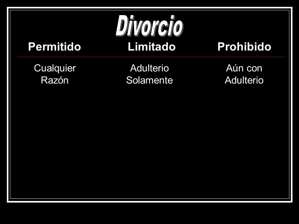 Divorcio Permitido Limitado Prohibido Cualquier Razón