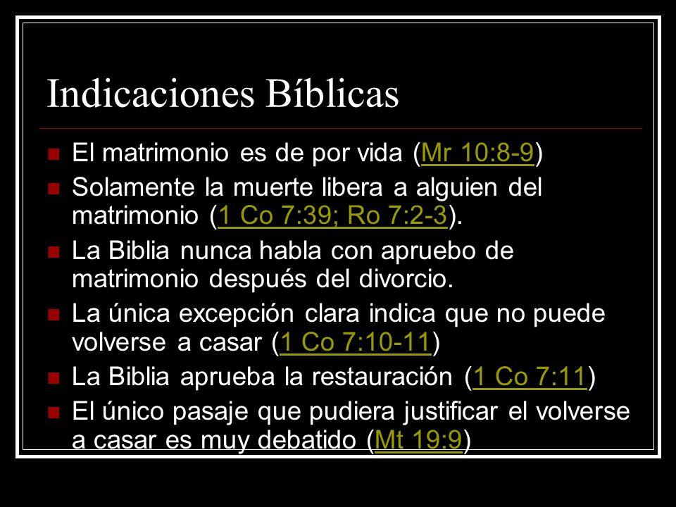 Indicaciones Bíblicas
