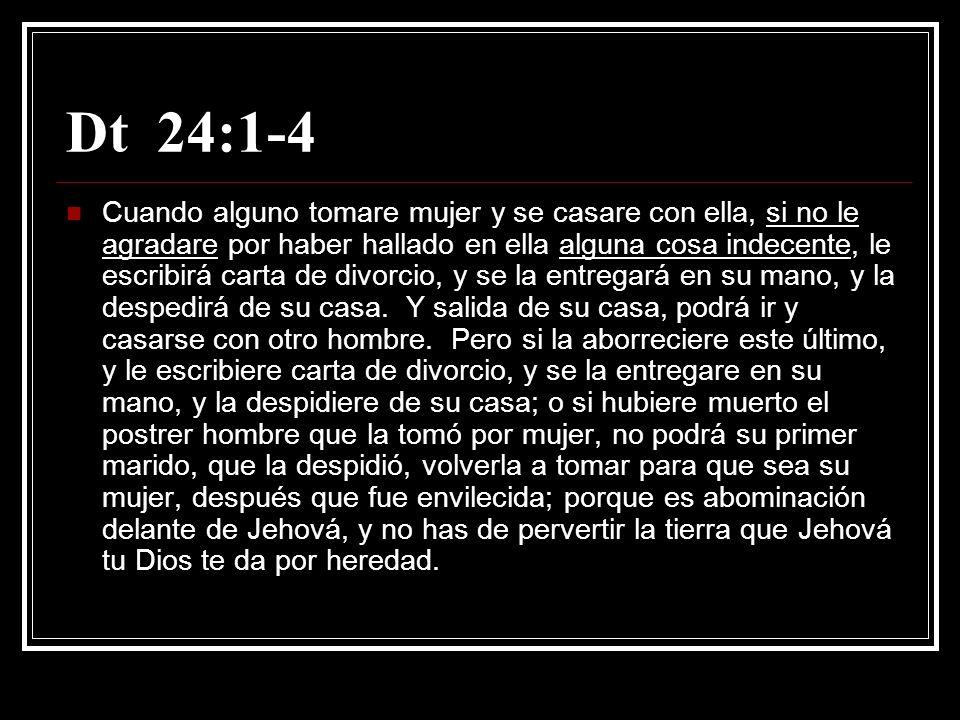 Dt 24:1-4