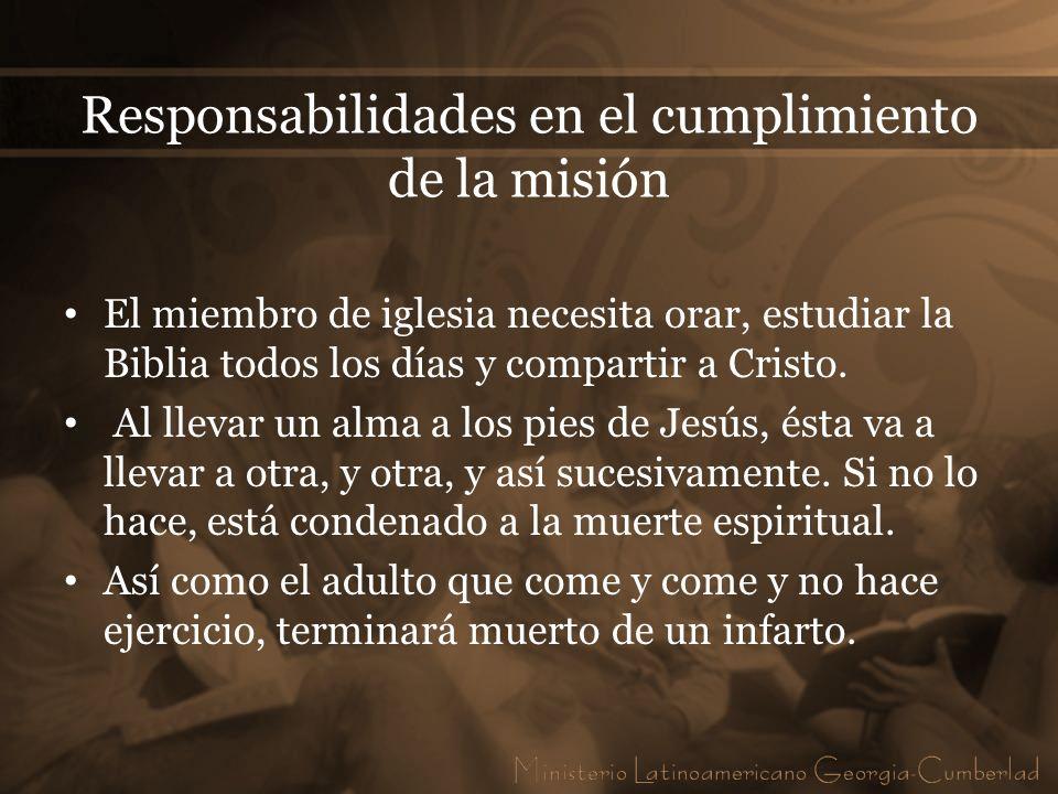 Responsabilidades en el cumplimiento de la misión