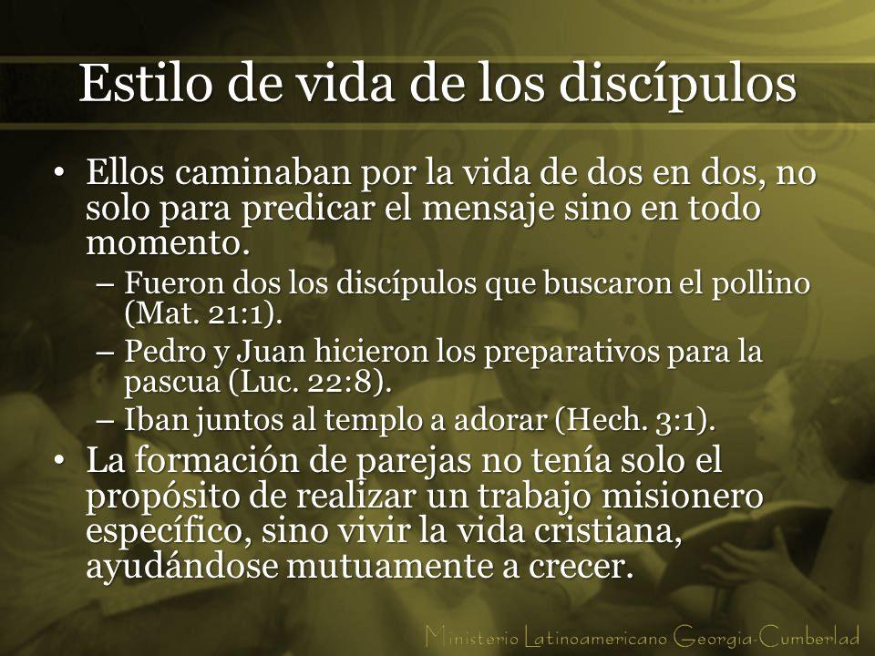 Estilo de vida de los discípulos