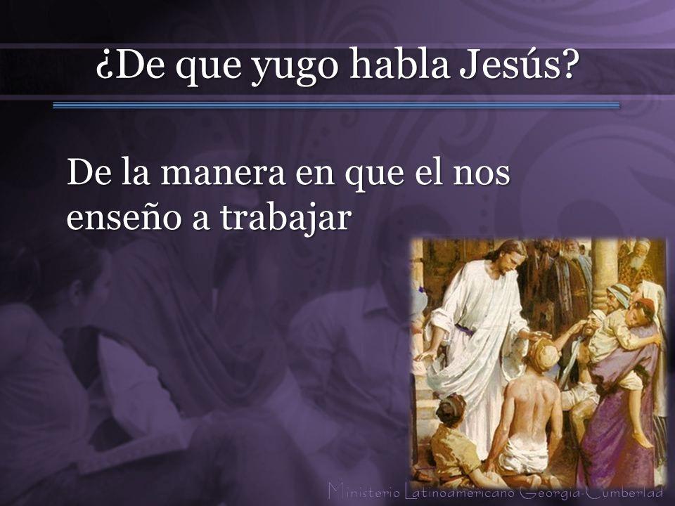 ¿De que yugo habla Jesús