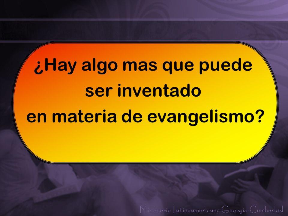 en materia de evangelismo