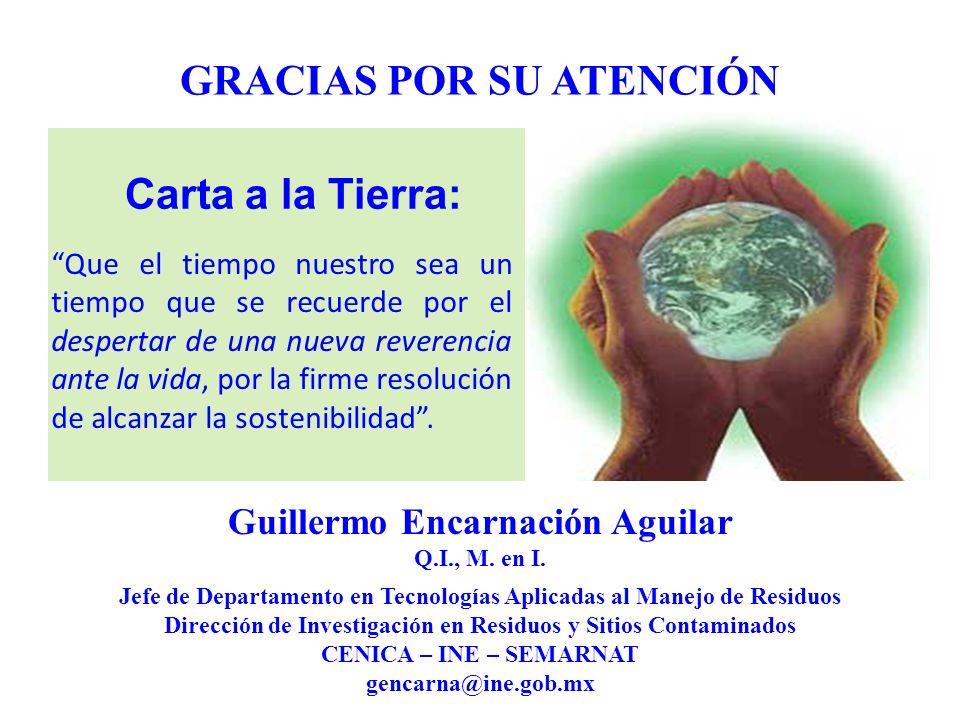 Carta a la Tierra: GRACIAS POR SU ATENCIÓN