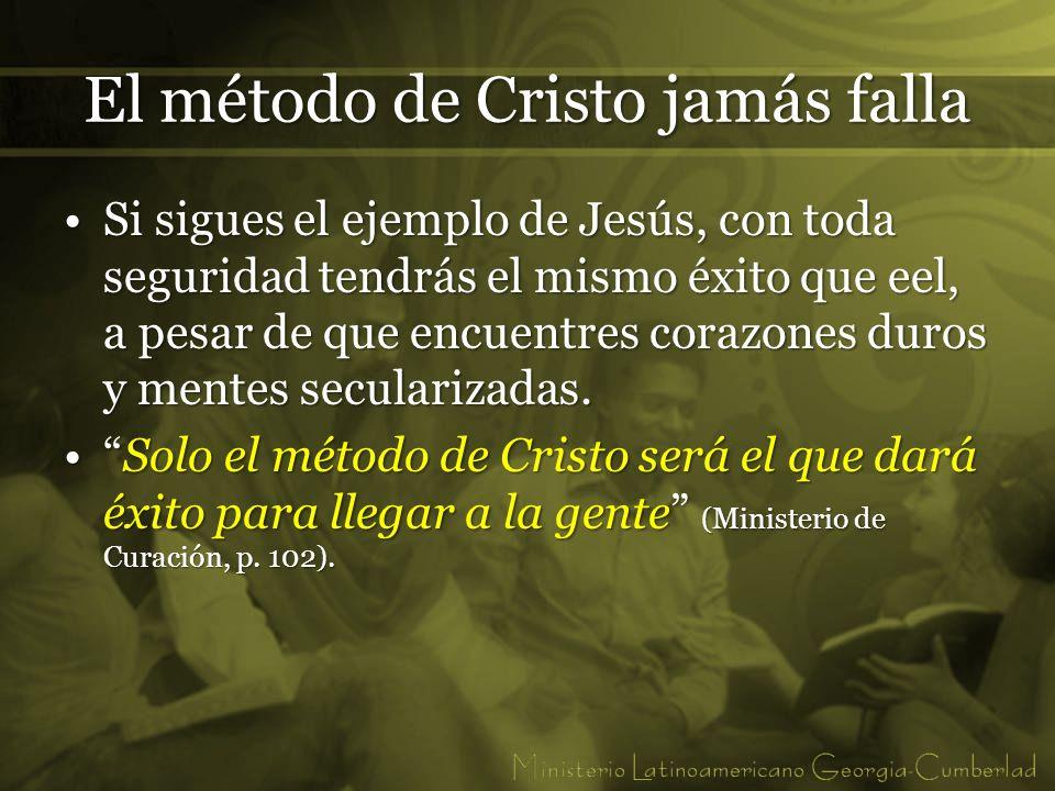 El método de Cristo jamás falla