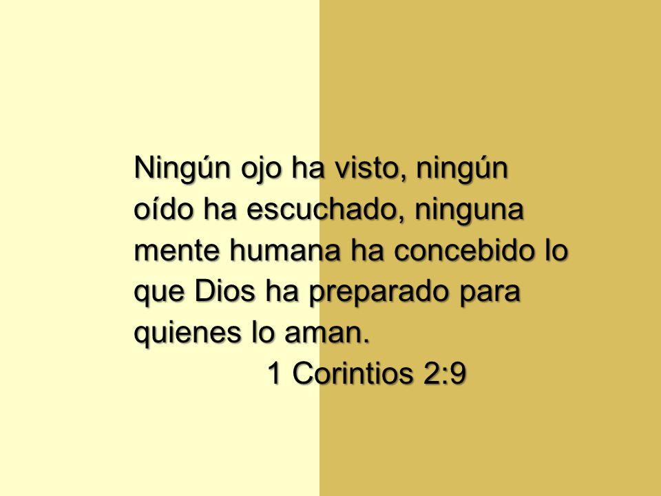 Ningún ojo ha visto, ningún oído ha escuchado, ninguna mente humana ha concebido lo que Dios ha preparado para quienes lo aman.