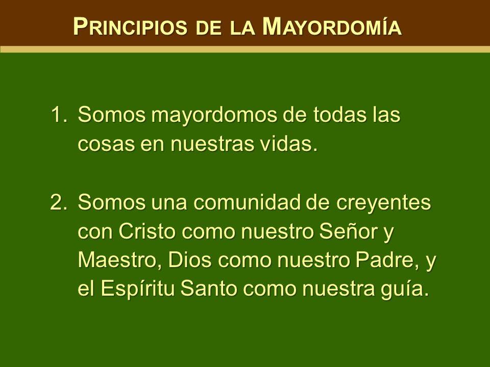 Principios de la Mayordomía