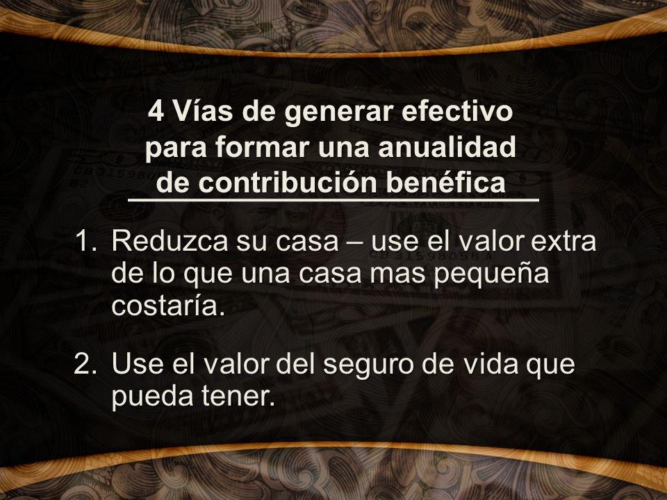 4 Vías de generar efectivo para formar una anualidad de contribución benéfica