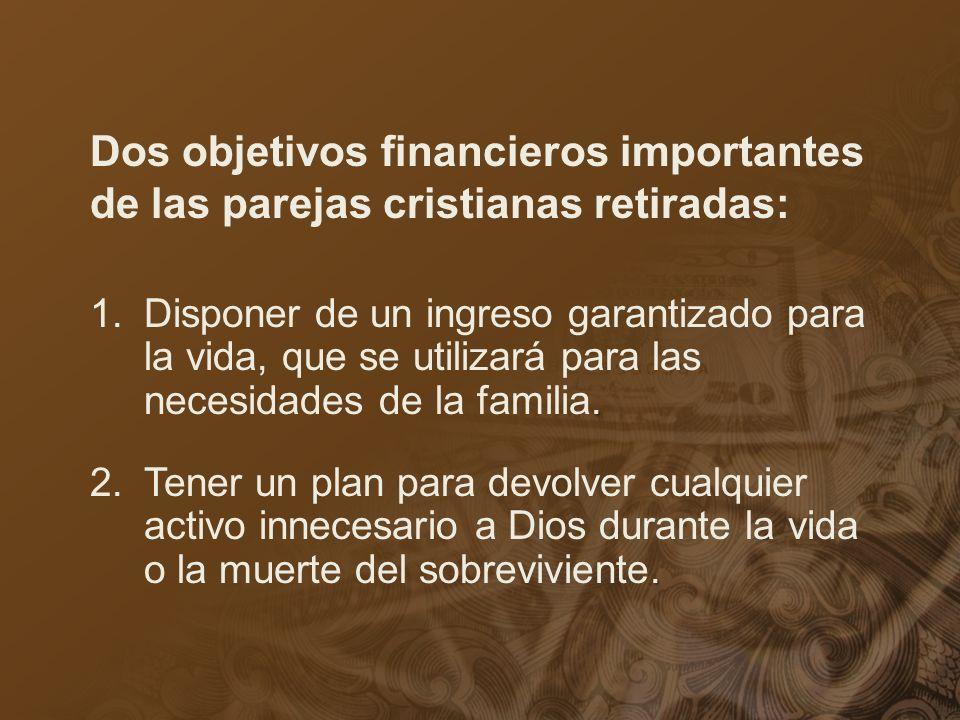 Dos objetivos financieros importantes de las parejas cristianas retiradas: