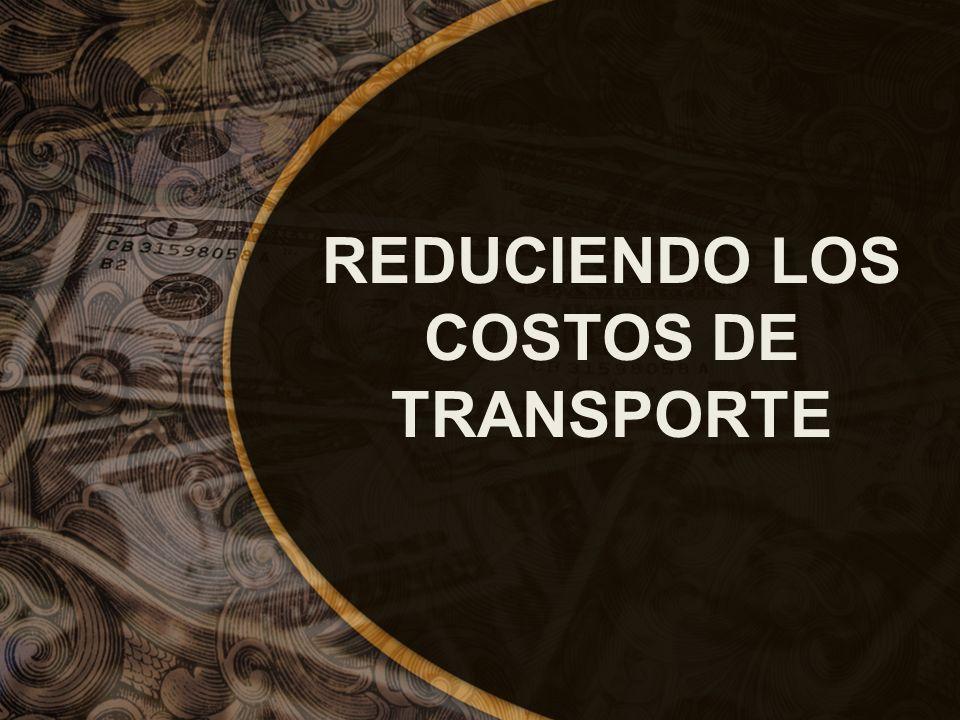REDUCIENDO LOS COSTOS DE TRANSPORTE