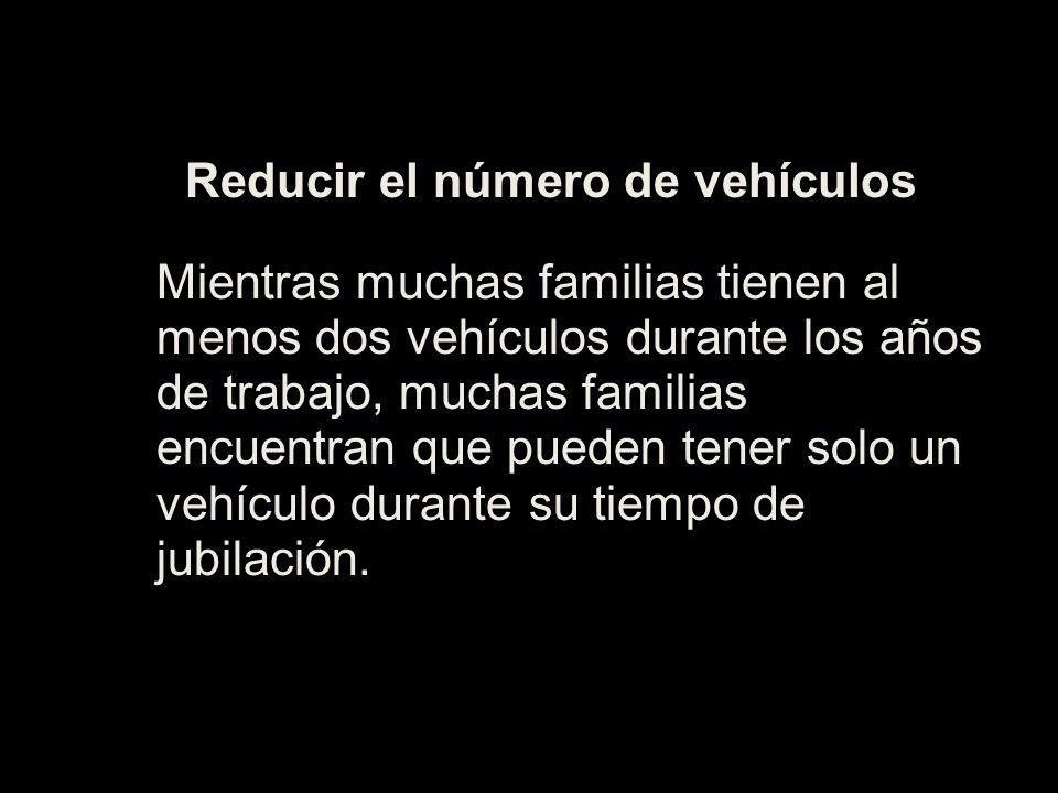 Reducir el número de vehículos
