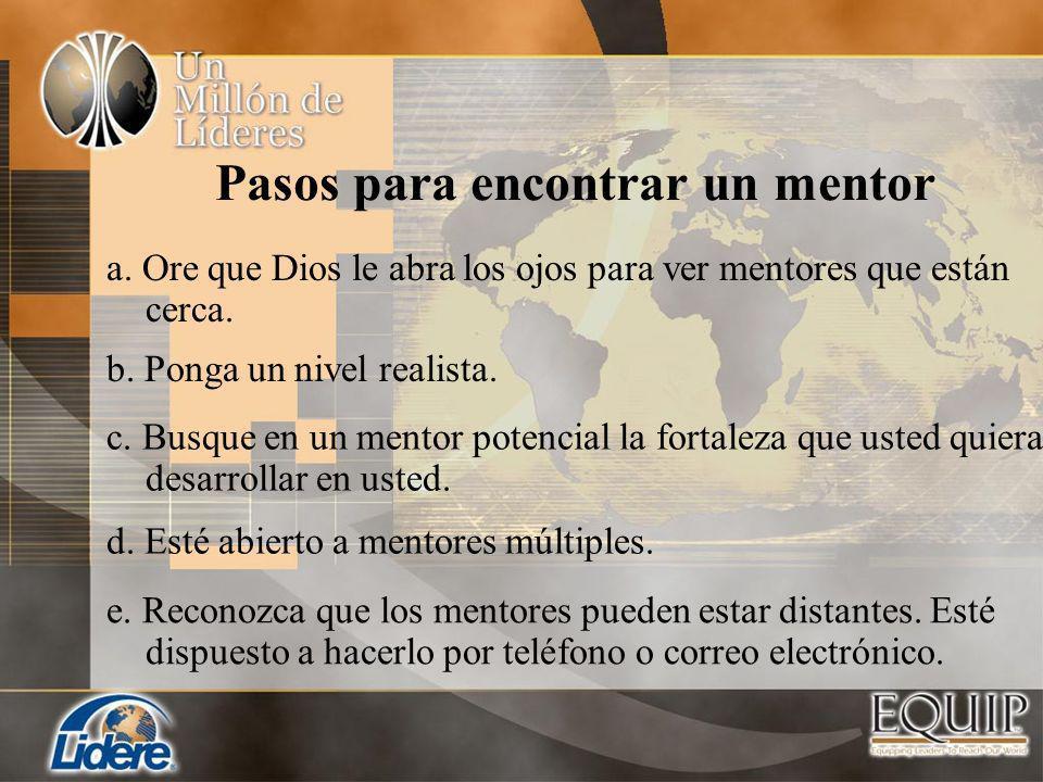 Pasos para encontrar un mentor