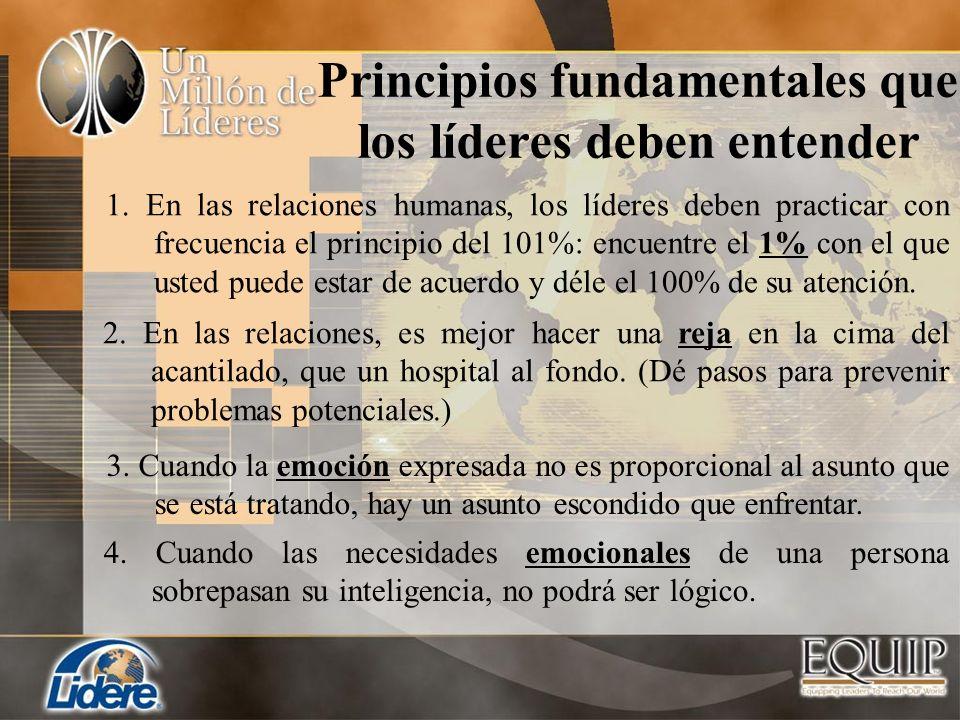 Principios fundamentales que los líderes deben entender
