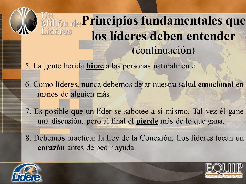 Principios fundamentales que los líderes deben entender (continuación)