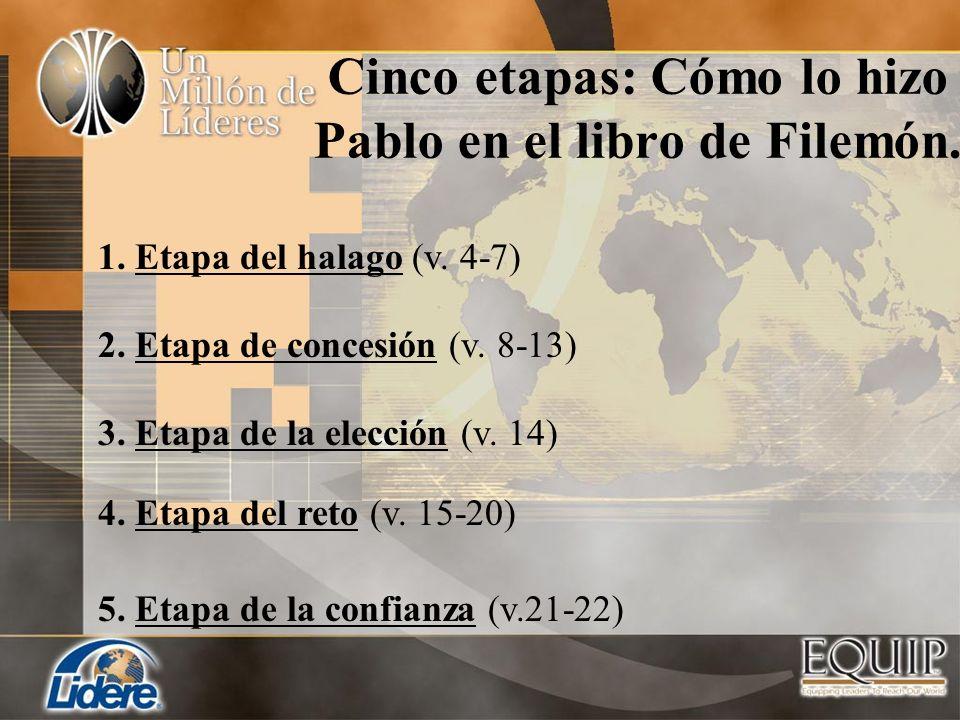 Cinco etapas: Cómo lo hizo Pablo en el libro de Filemón.