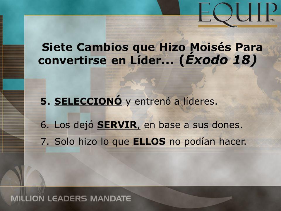 Siete Cambios que Hizo Moisés Para convertirse en Líder… (Éxodo 18)