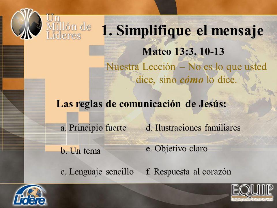 1. Simplifique el mensaje