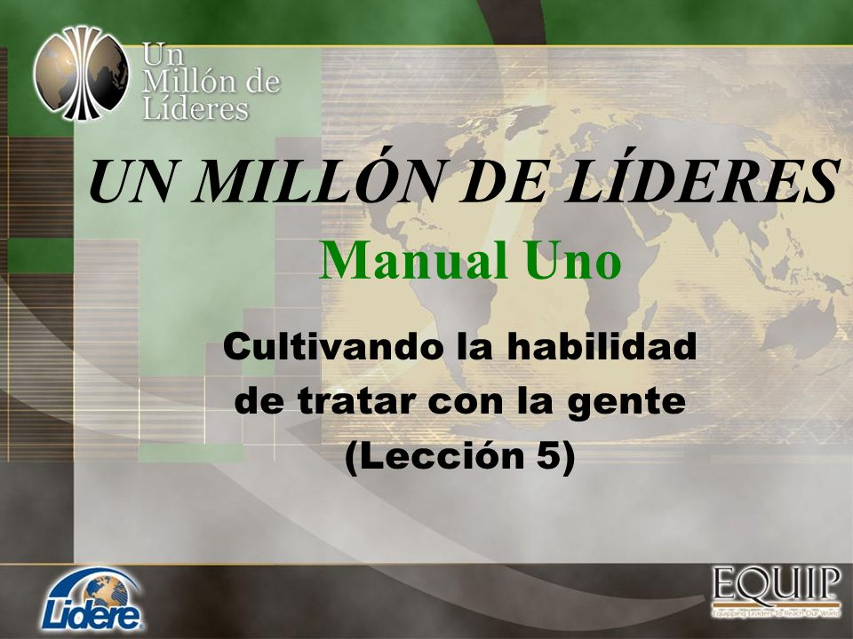 UN MILLÓN DE LÍDERES Manual Uno