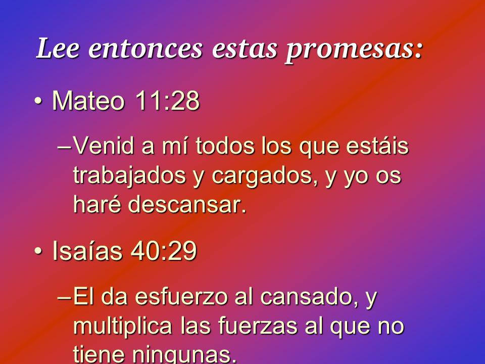 Lee entonces estas promesas: