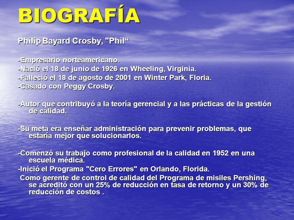 BIOGRAFÍA Philip Bayard Crosby, Phil -Empresario norteamericano.