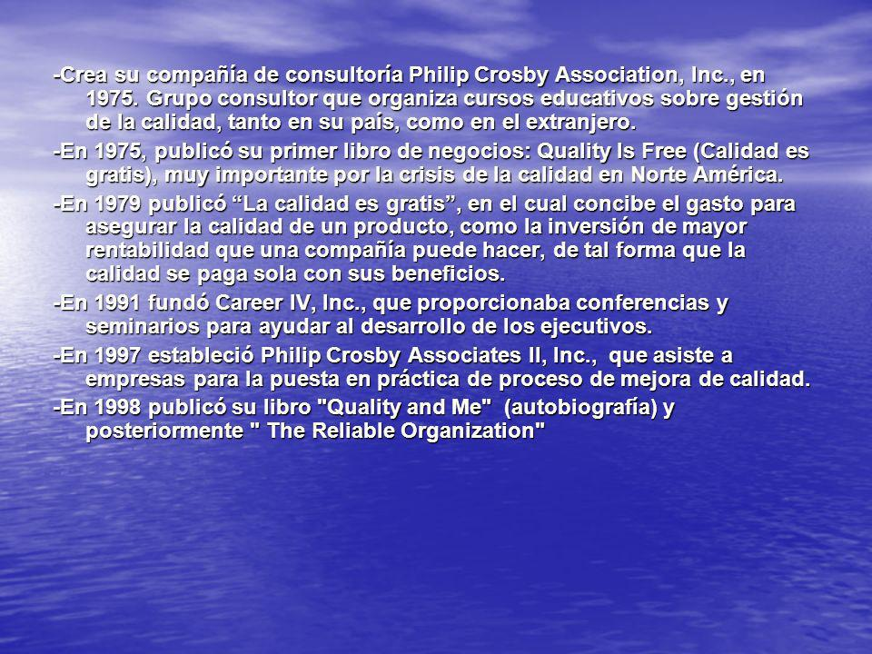 -Crea su compañía de consultoría Philip Crosby Association, Inc