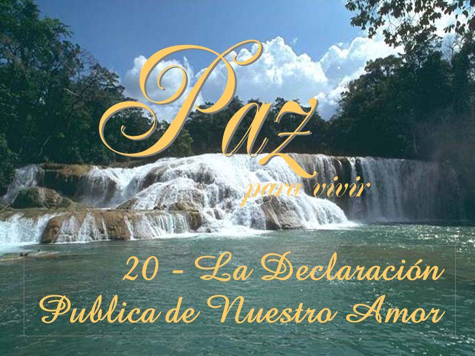 20 - La Declaración Publica de Nuestro Amor