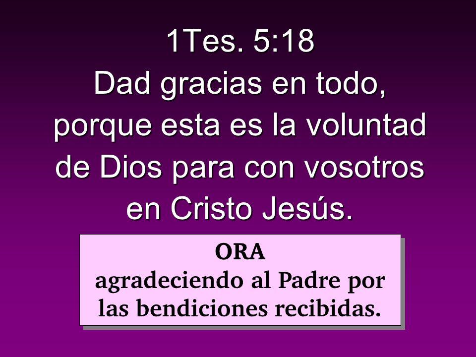 agradeciendo al Padre por las bendiciones recibidas.