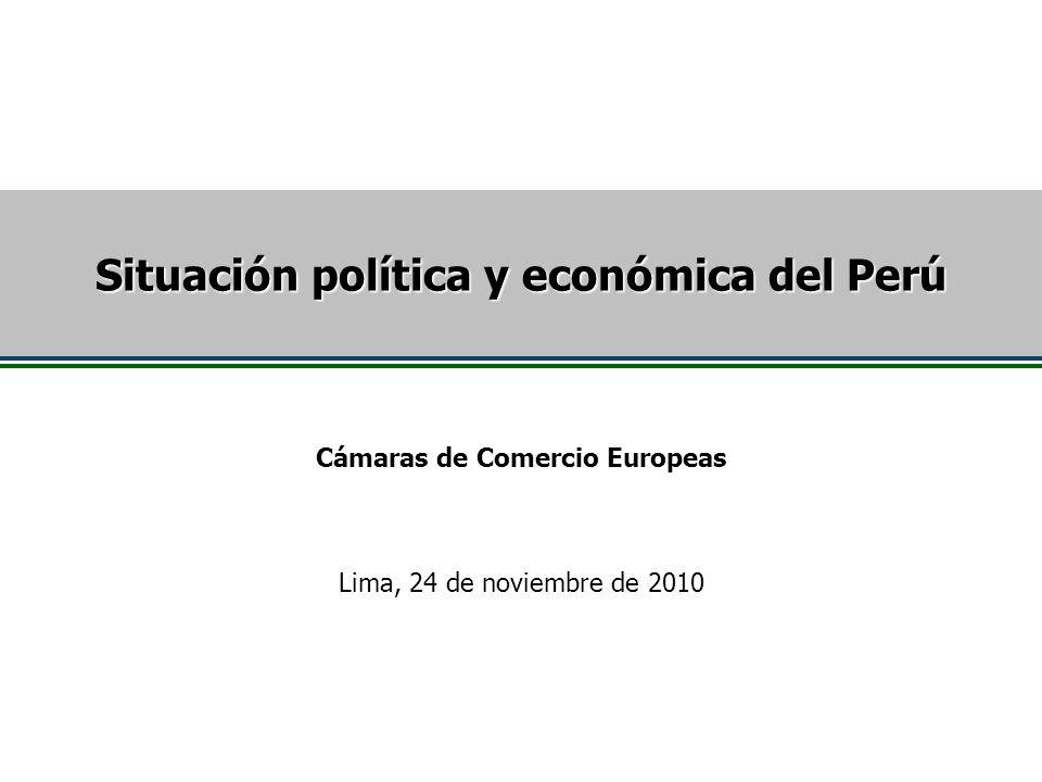 Situación política y económica del Perú Cámaras de Comercio Europeas
