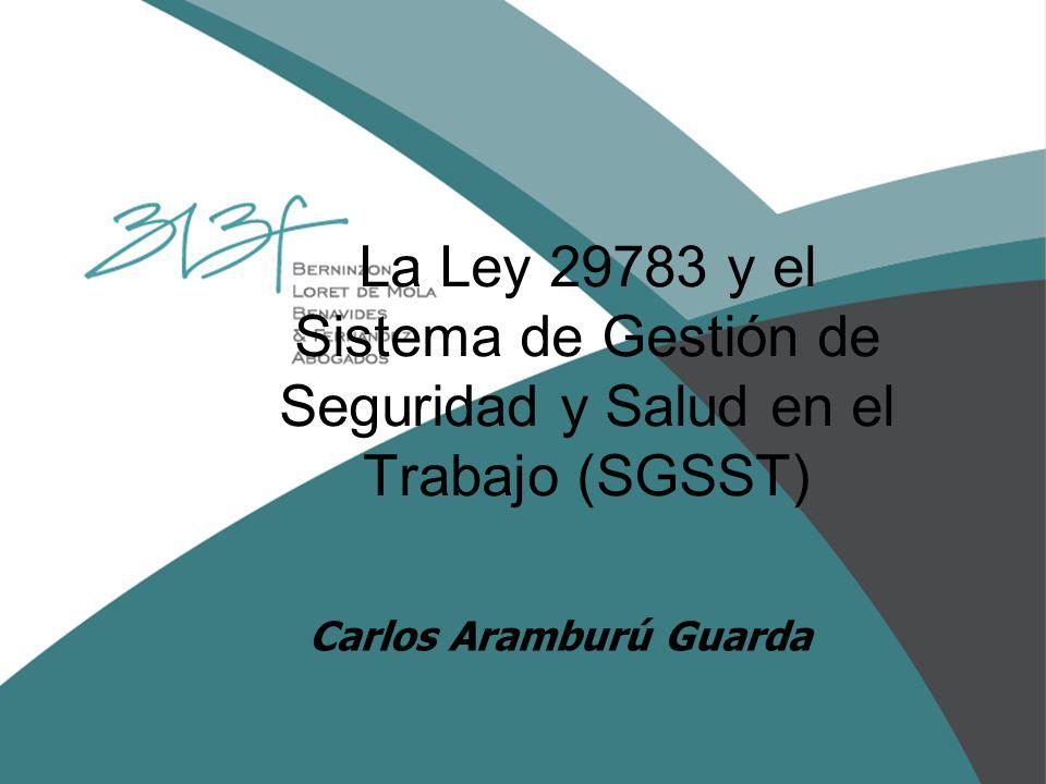 La Ley 29783 y el Sistema de Gestión de Seguridad y Salud en el Trabajo (SGSST)